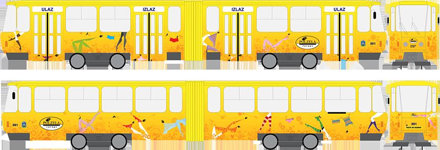 Polzela tramvaj